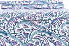 5 Yard Indian Hand Block Print Fabric 100 % Cotton Pink Paisley Print Fabric Art