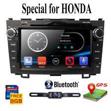 Fit Honda CRV 2007-2011 8'' Car Stereo Radio GPS Navi  DAB+ Bluetooth DVD+Camera