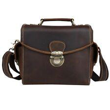 Genuine Leather DSLR Camera Sleeve Bag Messenger Bag Cross Body for Nikon Canon