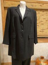 Vintage Black Pinstripe Pant Suit Plus Size 26W