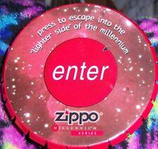 Zippo Y2K  METALLIC GREY JOKE LIGHTER MIB CONTAINER NO XV..ORANGE STICKER