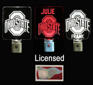 Personalized Ohio State Buckeyes Night Light  - Licensed OSU Gifts