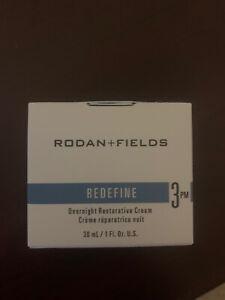 Rodan + Fields REDEFINE Step 3 PM Overnight Restorative Cream New in Box! 💙