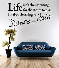 Dance In The Rain Wall Art Sticker Quote Decal Vinyl Transfer
