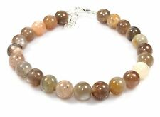 "8 MM Natural Moonstone Bracelet 7.5""+1.5"" Length Gemstones Jewelry Birthday Gift"