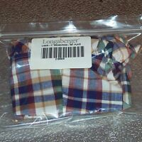 """Longaberger Woven Traditions Plaid MEASURING Basket Liner 7"""" inch ~ Brand New!"""