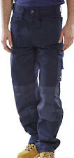 Click Premium Multi Pocket Work Trousers Knee Pad Pockets Pants Heavy Duty