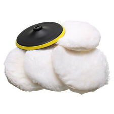 5X 7'' Wool Buffing PAD CAR Kit^  Detailing Polishing Backing Buffer 180MM