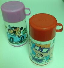 Aladdin Thermos LOT of 2 Rug Rats Minnie Mickey Mouse 8 Ounce Capacity Each