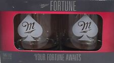New MILLER FORTUNE 2PK ROCK BOXED SET (POKER) GLASSES 11oz 2014