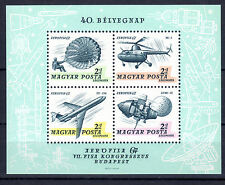 HUNGARY MAGYAR 1967 Aviation and Space Souvenir Sheet MNH - FREE SHIPPING