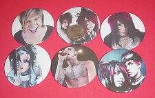 """Blood On The Dance Floor Dahvie Vanity Set Of 6 LARGE 2 1/4"""" Buttons Pins BOTDF"""