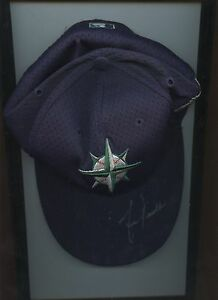 2001 All Star Game Lou Piniella Seattle Mariners Dark Blue Hat / Cap Autogr Holo