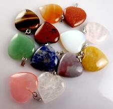 20*20mm Beautifu Natural Multicolor Agate Pendant Gem/gemstone Loose Beads 12pcs