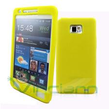Custodia SKIN in silicone GIALLO per Samsung Galaxy S2 I9100 S2 Plus I9105 SII
