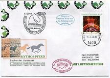 2003 Luftschiffpost n. 33 Pro Juvent. Dirigibile OE-ZHY Mythos Pferd Koflach ONU