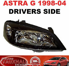 VAUXHALL ASTRA G MK4 SXI SRI GSI HEADLIGHT HEADLAMP BLACK DRIVERS OFF RIGHT SIDE