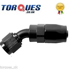 AN -6 (AN-6 -6 JIC)  30 Degree Fast Flow Stealth Black Hose Fitting