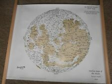 Sir Patrick Moore huge hand signed moon map with coa UACC AFTAL