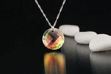 Cadena 925 plata con 28mm Swarovski Elements remolque Twist pendant Crystal a partir de