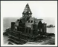 1895 SAN FRANCISCO VICTORIAN CLIFF HOUSE UNDER CONSTRUCTION~8x10 GLOSSY BW PHOTO