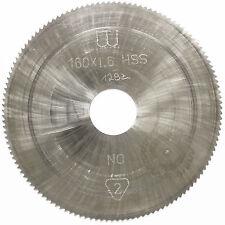 Lama sega circolari taglio dei metalli HSS 152 x 1,6 32 80 DENTI DADO Alesatore