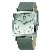 50 m (5 ATM) Armbanduhren aus echtem Leder mit Rechteck