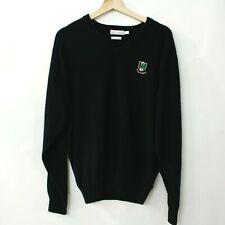 Peter Millar Mens Large L Pine Valley Cashmere Sweater Black Vneck Golf Club