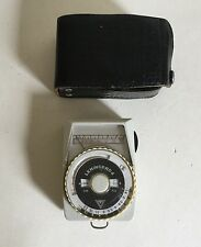 Vintage Leningrad 4 Photographic Light Meter Leather Case Repair & Restoration