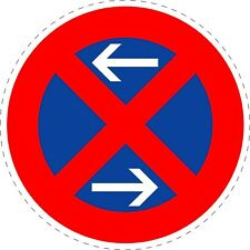 Traffic Sign Stopping Restriction Middle Stickers 150mmx150mm TR163