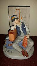 """Vintage 1980 Norman Rockwell """"Asleep On The Job"""" Danbury Mint Figure"""
