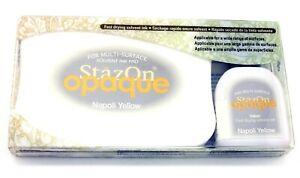 Tsukineko StazOn Permanent Solvent Ink Pad Set Reinker Opaque 111 napoli yellow