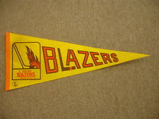 1970's Vancouver Blazers WHA Hockey Pennant – 29 + 1/2″ x 12″