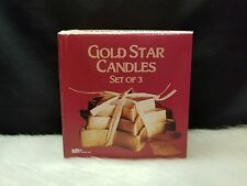 Giftco Inc Gold Star Candles Set of 3