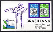 Suriname - 1993 Stamp expo Brasiliana - Mi. Bl. 60 MNH