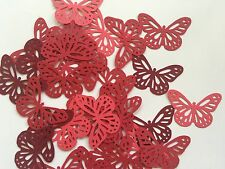 Martha Stewart Butterfly Punch Scrapbooking 40 Pcs Red Tone Cardstock Confetti