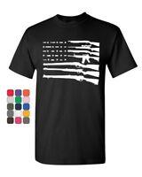 American Flag T-Shirt 2nd Amendment Gun Rights Homeland AR15 Tee