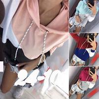 Womens Hoodie Sweatshirt Loose Pullover Tops Casual Long Sleeve Jumper Blouse