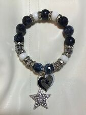 Dallas Cowboy Bracelet with Heart AND Star charm!