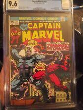 Captain Marvel 33 CGC 9.6 OW KEY *Origin of Thanos* Avengers, Drax, Death Appear