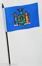 New York US State Small Hand Waving Flag