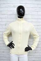 Maglione Donna RIFLE Taglia Size S Pullover Cardigan Sweater Woman Bianco