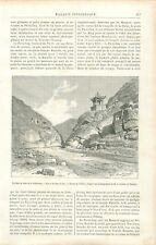 Excursion Grande Muraille de Chine passe de Nan-keo Rapide Pagode  GRAVURE 1888