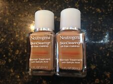 Neutrogena SkinClearing Foundation Oil Free Makeup Microclear Technology 1 ounce