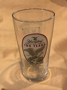 New Yuengling Lager Pint Glass, 16 oz, Dual Side Graphic, 190 Years Anniversary