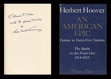HERBERT HOOVER Autographed Signed Book US President Stanford   AN AMERICAN EPIC