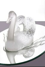 Lalique Head Up Swan w/ Mirror Guaranteed Authentic Retail $7,500