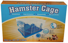 Hamster Cage Includes Drinks Bottle, Wheel, Drinks Bowl, House New Blue