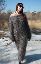 Dress Tunic Sweater  Longhair 100% Goat Down Mohair Jane Rodas Knit to order