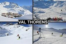 SOUVENIR FRIDGE MAGNET of VAL THORENS FRANCE SKIING